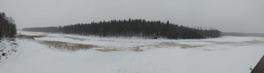 Keihäsjärvi talvella tammikuussa